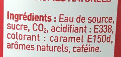Sowest Cola - Ingrediënten - fr