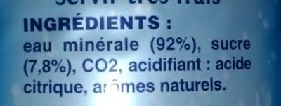 Limonade des neiges - Ingredients - fr