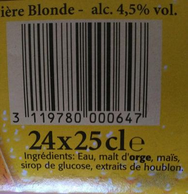 Bière - Ingrédients - fr