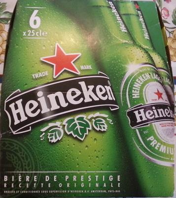 Bière blonde (pack de 6 x 25 cl) Heineken - Product