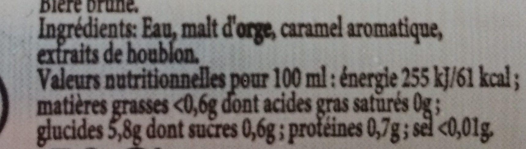 Pelforth Brune - Voedingswaarden - fr