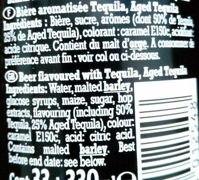Desperados Black - Ingredients - fr