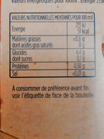 Fischer tradition - Informations nutritionnelles - fr