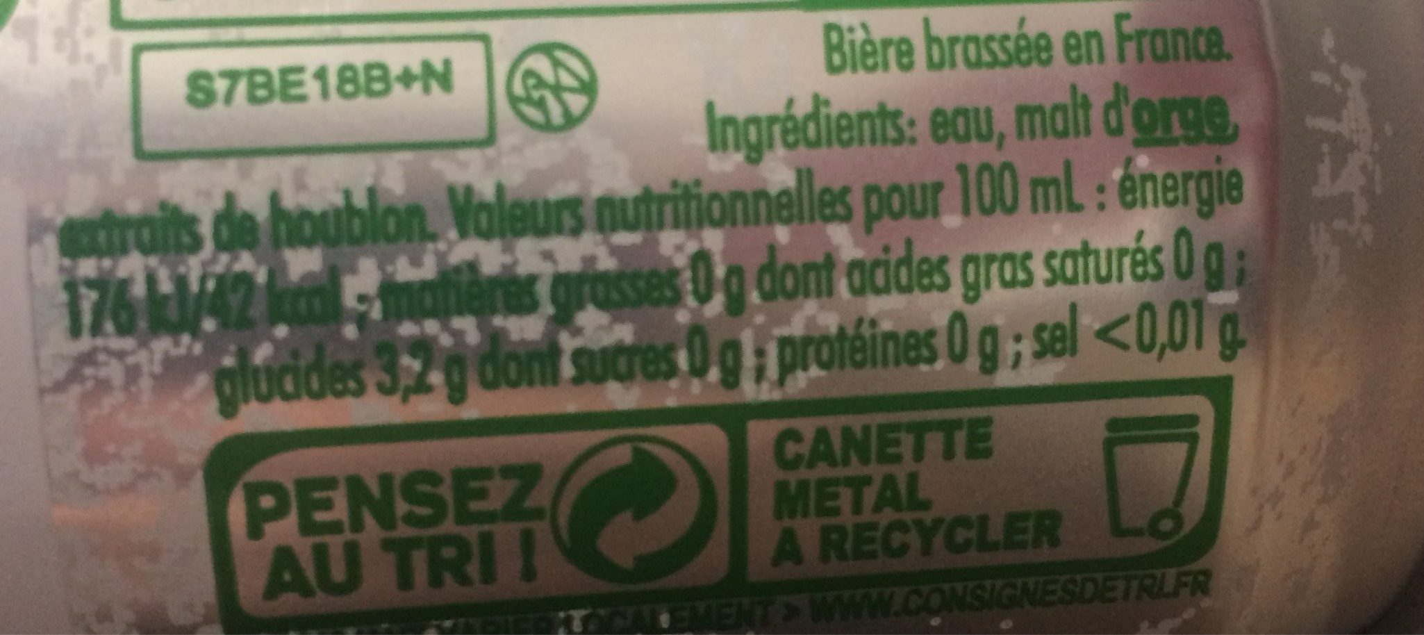 Heineken-beer-330ml-france - Nutrition facts
