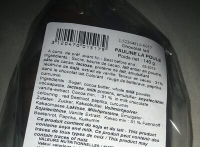 PAULINE LA POULE - Ingrédients - fr