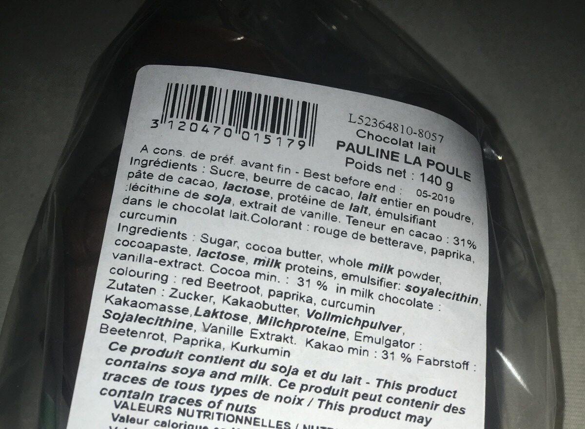 PAULINE LA POULE - Ingrédients