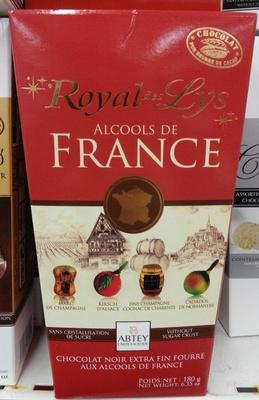 Chocolat noir extra fin fourré aux alcools de France - Product - fr