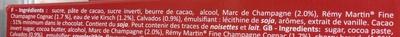 Chocolat noir extra fin fourré aux alcools de France - Ingredients - fr