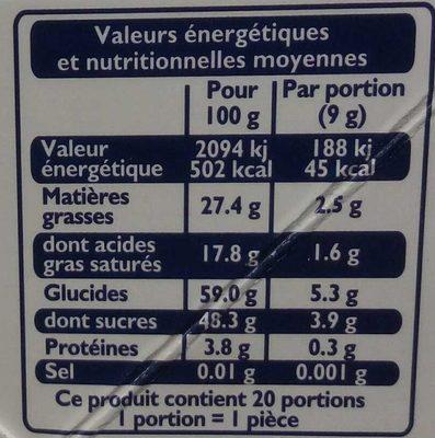 Ice Vodka - Informations nutritionnelles
