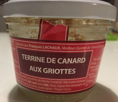 Terrine de canard aux Griottes - Produit - fr