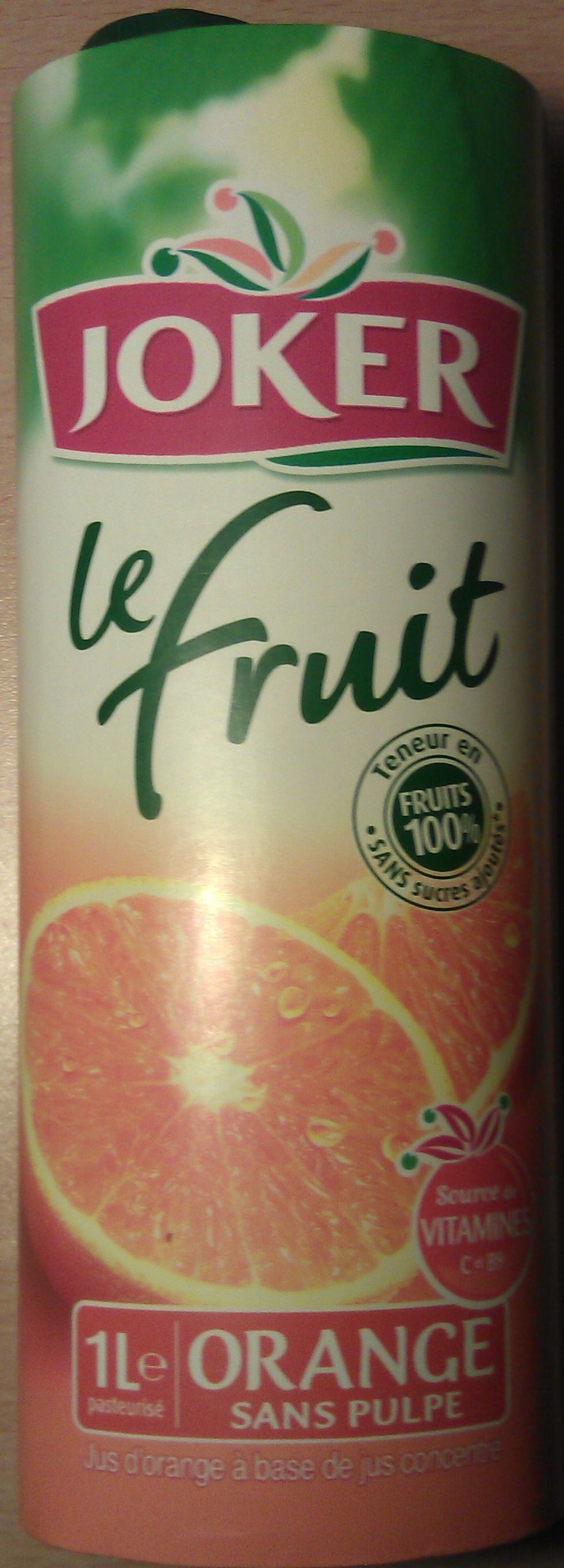 Le Fruit Orange sans Pulpe - Producto