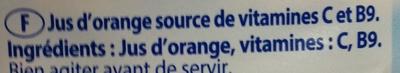 Jus d'orange - Ingrediënten - fr