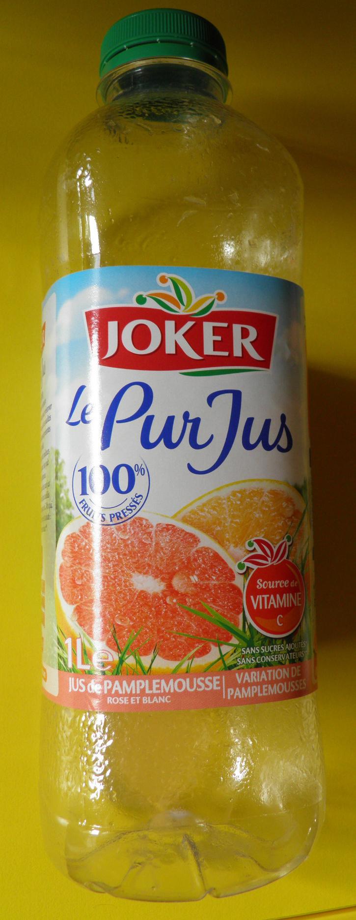 Le Pur Jus Pamplemousse Rose et Blanc Joker - Produit - fr