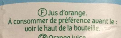 Le pur jus - Ingrediënten - fr