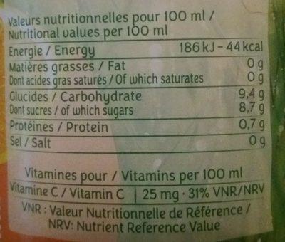 Le pur jus - Voedingswaarden - fr