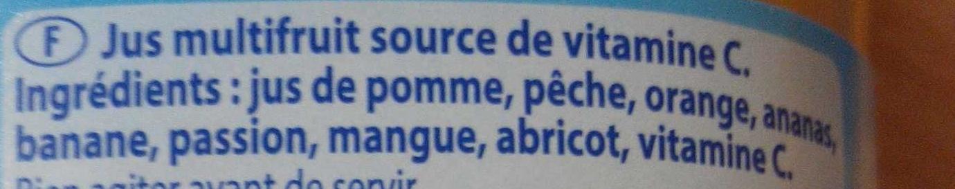 Le Pur Jus multifruit exotique - Ingrediënten