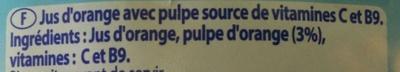 Le Pur Jus avec pulpe - Ingrediënten - fr