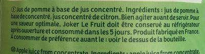 Le Fruit Pomme - Ingredients - fr