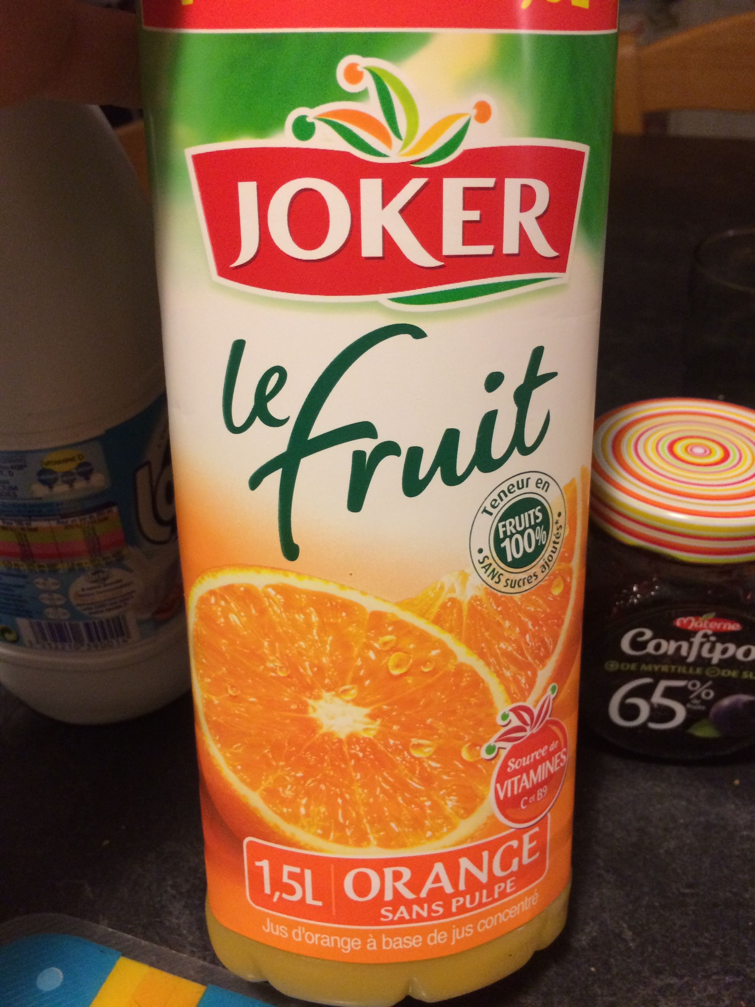 Le Fruit - Orange sans pulpe - Product - fr