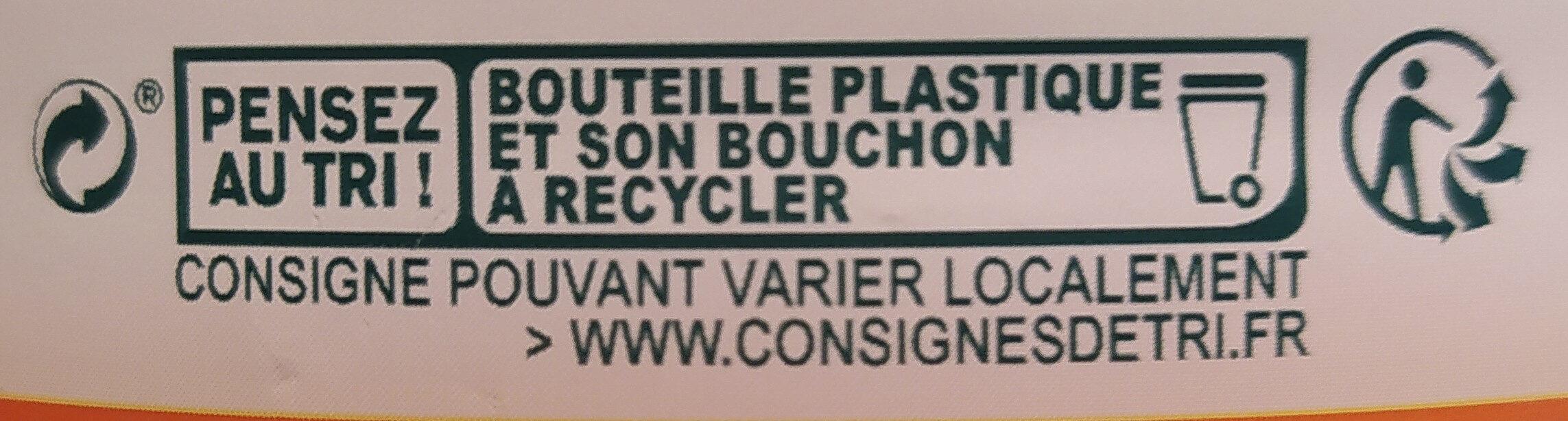 Jus d'ORANGE sans pulpe à base de jus concentré - Instrucciones de reciclaje y/o información de embalaje - fr