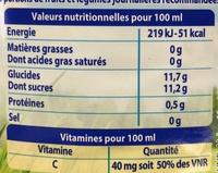 Le Pur Jus Matin Tonus - Voedingswaarden - fr