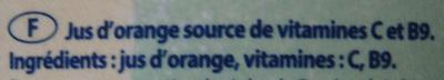 Pur jus de fruit d'orange sans pulpe Joker - Ingrediënten - fr