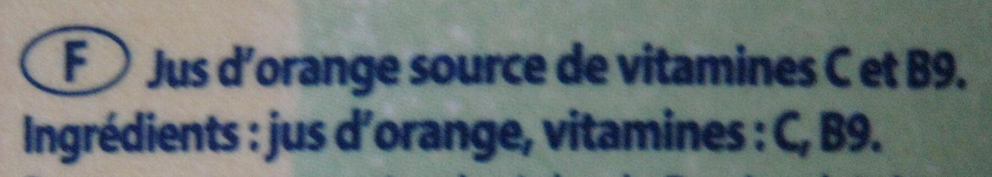 Pur jus de fruit d'orange sans pulpe Joker - Ingrédients