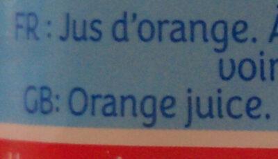 LE PUR JUS Orange sans pulpe - Ingredients - fr