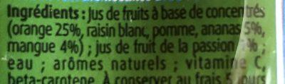 Fruigolo Tropical - Ingrediënten - fr