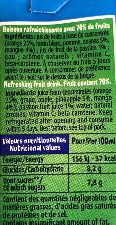 Fruigolo Tropical - Voedingswaarden - fr
