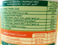 Le fruit Orange Sans pulpe - Nutrition facts - fr