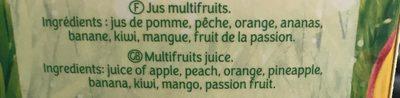 Le Pur jus Multifruit - Ingredients
