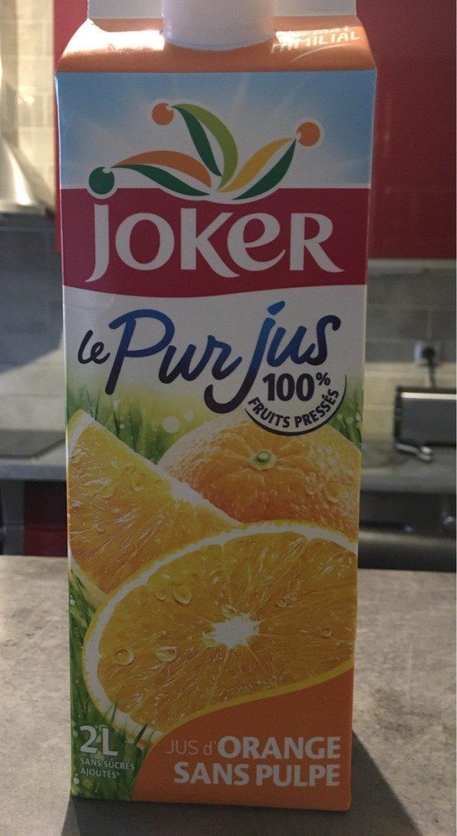 jus d'orange sans pulpe - Product