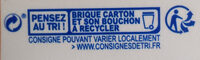 PUR JUS Orange sans pulpe - Recyclinginstructies en / of verpakkingsinformatie - fr