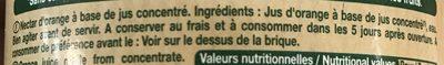 Le Bio ! Orange sans pulpe - Ingredienti - fr