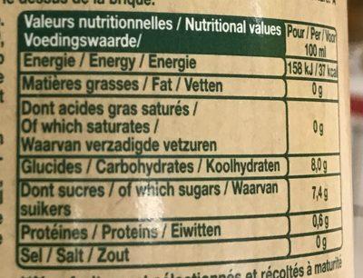 Le Bio ! Orange sans pulpe - Valori nutrizionali - fr