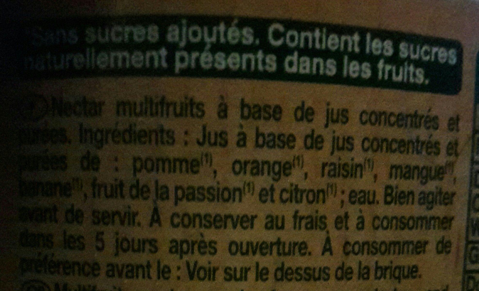 Le Bio multifruit - Ingrédients - fr