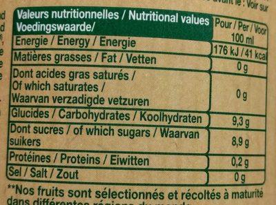 Le Bio multifruit - Informations nutritionnelles - fr
