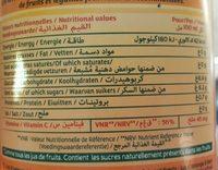 Le Fruit - Jus d'Orange - Informations nutritionnelles