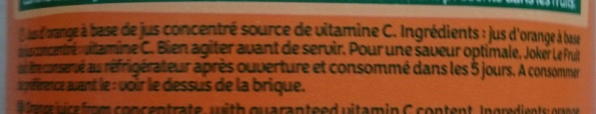 Le fruit - Ingrediënten