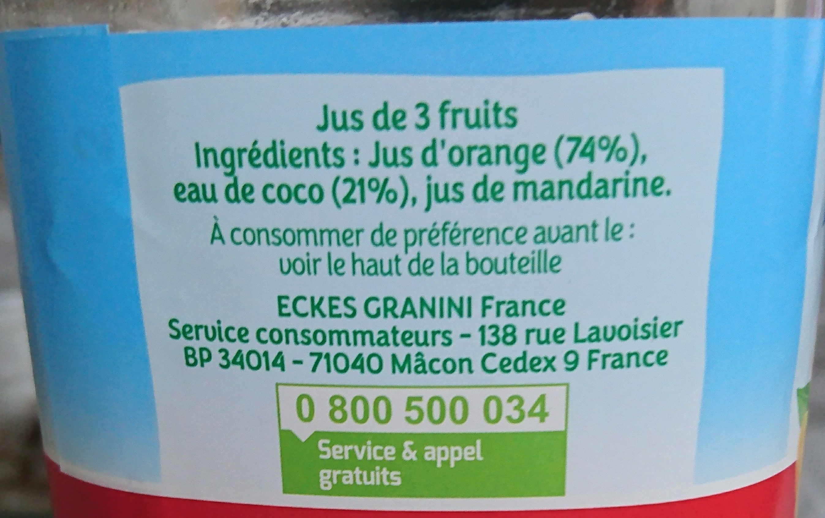 Orange mandarine - Ingredients