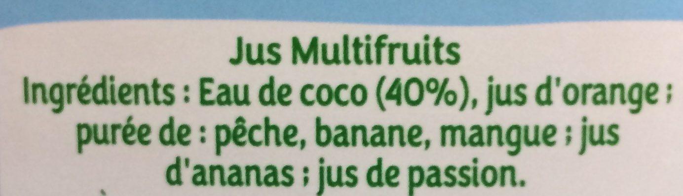 PUR JUS - 30% sucre Multifruits 1L - Ingredienti - fr