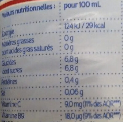 PUR JUS - 30% sucre Multifruits 1L - Valori nutrizionali - fr