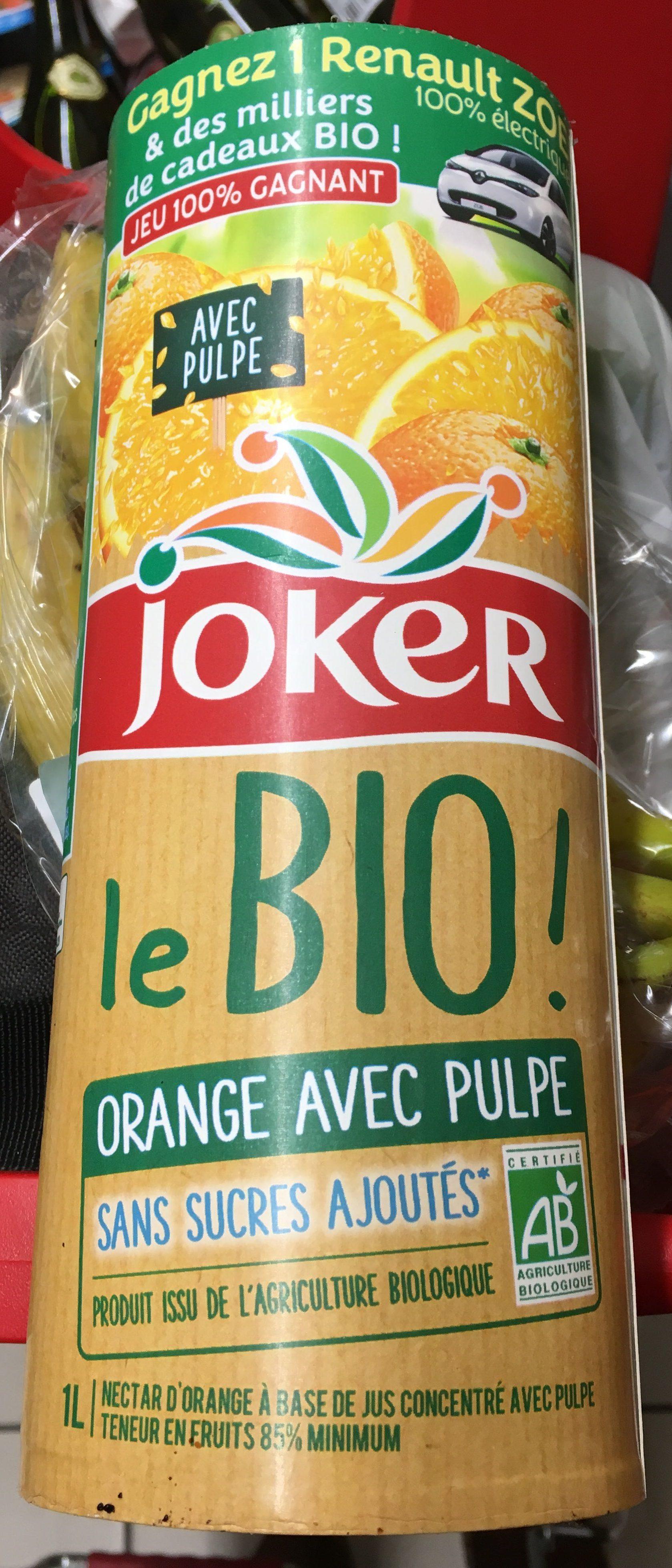Le bio! orange avec pulpe - Product - fr