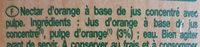 Le bio! orange avec pulpe - Ingrediënten - fr