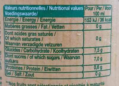 Le bio! orange avec pulpe - Voedingswaarden - fr