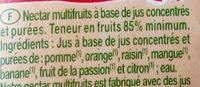 Nectar BIO Multifruits abc et purées. - Ingrédients - fr