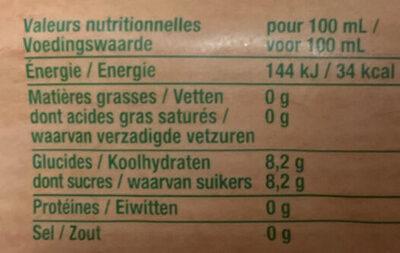 Nectar BIO Multifruits abc et purées. - Informations nutritionnelles - fr