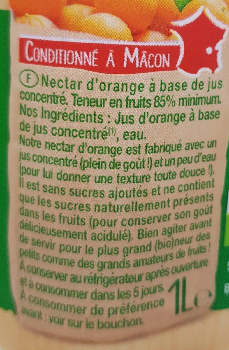Nectar BIO ORANGE abc - Ingredienti - fr