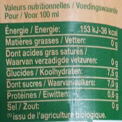 Nectar d'orange - Voedingswaarden - fr